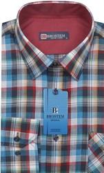Мужская рубашка лен и хлопок приталенная Brostem LN139
