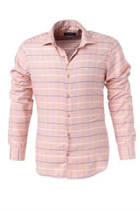 Мужская рубашка P-4014-14 Bawer приталенная - фото 10446