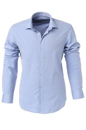 Мужская рубашка P-4015-19  Bawer полуприталенная - фото 10576