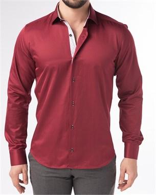 Мужская рубашка хлопок 100 % P-4003-06 Bawer полуприталенная - фото 10603