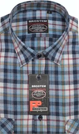 Большая фланелевая рубашка BROSTEM KA16010Ag - фото 10721