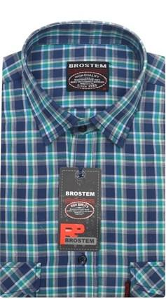 Рубашка мужская хлопок 100 % SH664 BROSTEM полуприт. - фото 11223