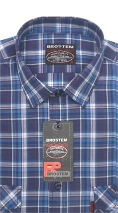 Рубашка мужская хлопок 100 % SH669-2 BROSTEM полуприт. - фото 11229