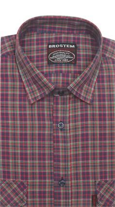 Рубашка мужская хлопок 100 % SH670 BROSTEM полуприт. - фото 11232