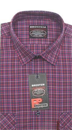 Рубашка мужская хлопок 100 % SH670-1 BROSTEM полуприт. - фото 11234