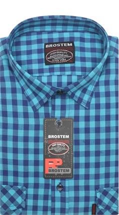 Полуприталенная рубашка хлопок 100 % SH683 BROSTEM - фото 11237