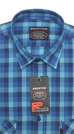 Рубашка мужская хлопок 100 % SH697 BROSTEM полуприт. - фото 11241