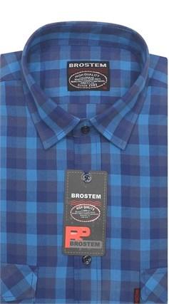Рубашка мужская хлопок 100 % SH698 BROSTEM полуприт. - фото 11243