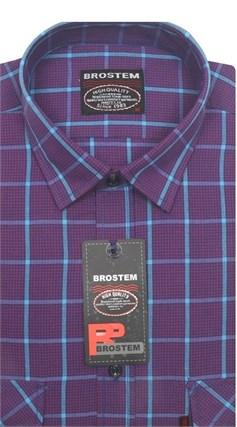 Рубашка мужская хлопок 100 % SH713 BROSTEM полуприт. - фото 11247