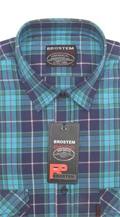 Рубашка мужская хлопок 100 % SH671-3 BROSTEM полуприт. - фото 11251