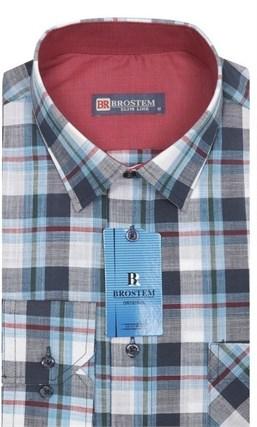 Мужская рубашка лен/хлопок LN120-Z Brostem приталенная - фото 11572