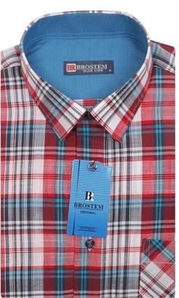 Мужская рубашка лен/хлопок LN129-Z Brostem приталенная - фото 11577