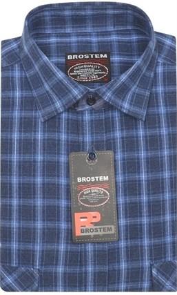 Приталенная рубашка шерсть/хлопок Brostem KA15027B - фото 11627