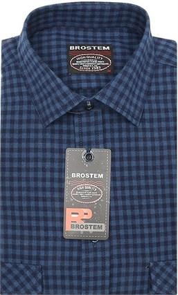 Приталенная рубашка шерсть/хлопок Brostem KA15028H - фото 11633