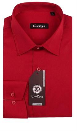 Приталенная красная рубашка CITY RACE 1122-106 - фото 11788