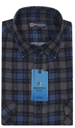 Мужская фланелевая рубашка BROSTEM F104H(F102) - фото 11806