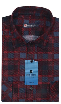 Мужская фланелевая рубашка BROSTEM F98 - фото 11818