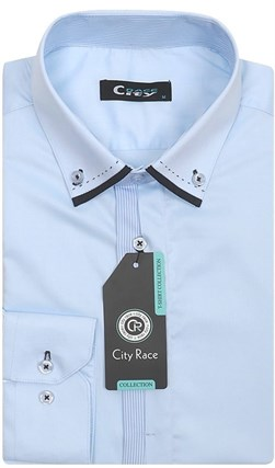 Мужская рубашка BROSTEM CITY RACE 712C-2 приталенная - фото 11976