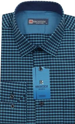 Мужская рубашка хлопок 100 % Brostem BR5 приталенная - фото 12030