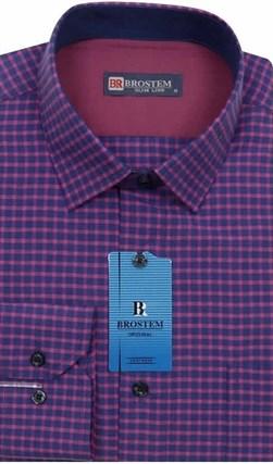 Мужская рубашка хлопок 100 % Brostem BR6 приталенная - фото 12033