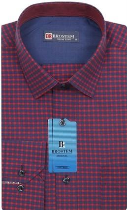 Мужская рубашка хлопок 100 % Brostem BR7 приталенная - фото 12036