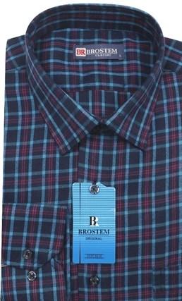 Мужская рубашка в клетку Brostem KB5 - фото 12071