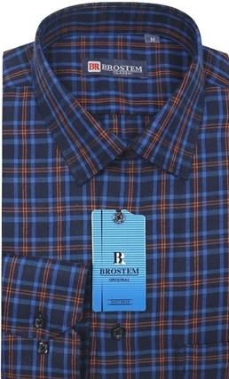 Мужская рубашка в клетку Brostem KB6 - фото 12074