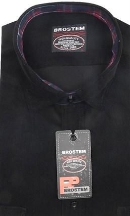 Вельветовая полуприталенная рубашка хлопок 100 % Brostem V2 Z - фото 12119