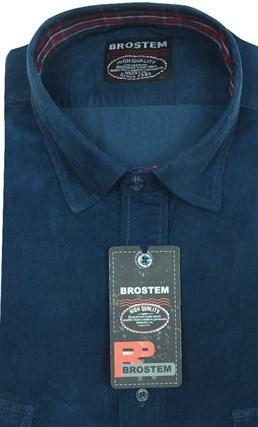 Вельветовая мужская рубашка приталенная хлопок 100 % Brostem V25 Z - фото 12131