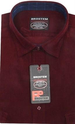 Вельветовая мужская рубашка приталенная хлопок 100 % Brostem V5 Z - фото 12146