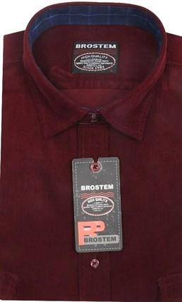 Вельветовая мужская рубашка приталенная хлопок 100 % Brostem V5 Z - фото 12148