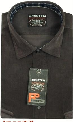 Вельветовая мужская рубашка полуприталенная хлопок 100 % Brostem V9 Z - фото 12152