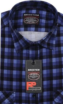 Вельветовая мужская рубашка хлопок полуприталенная Brostem  VT16 - фото 12155