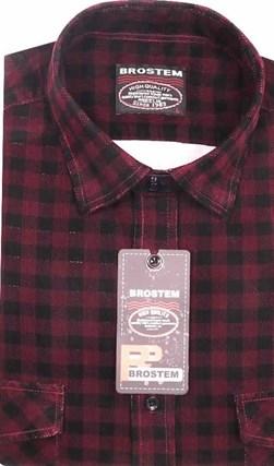 Вельветовая мужская рубашка хлопок полуприталенная Brostem  VT17 - фото 12158