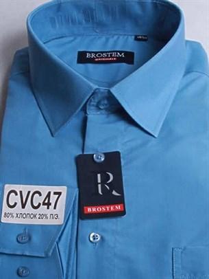 Мужская рубашка с коротким рукавом BROSTEM CVC47s - фото 12363