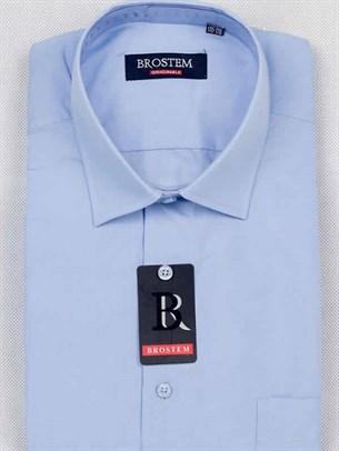 Мужская рубашка большого размера с коротким рукавом BROSTEM CVC92s - фото 12383