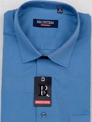 Мужская рубашка большого размера с коротким рукавом BROSTEM CVC45s - фото 12395
