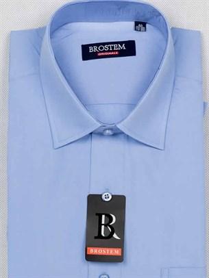 Мужская рубашка большого размера с коротким рукавом BROSTEM CVC23s - фото 12412