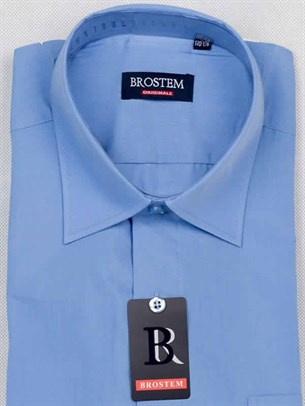 Мужская рубашка большого размера с коротким рукавом BROSTEM CVC23As - фото 12414
