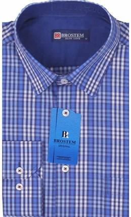 Мужская рубашка BROSTEM приталенная хлопок 100 %  K6-261-pp - фото 12718
