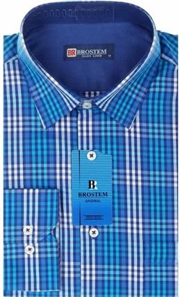 Мужская рубашка BROSTEM приталенная хлопок 100 %  K6-262-pp - фото 12719