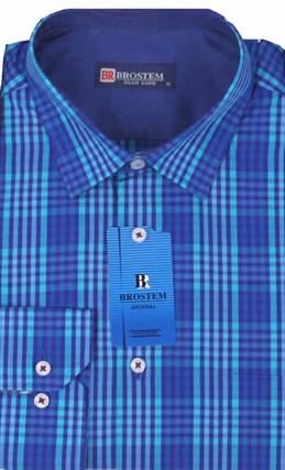 Мужская рубашка BROSTEM приталенная хлопок 100 %  K6-273-pp - фото 12723