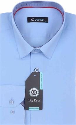 Мужская рубашка City Race BROSTEM 905-127 Z-pr приталенная - фото 12731