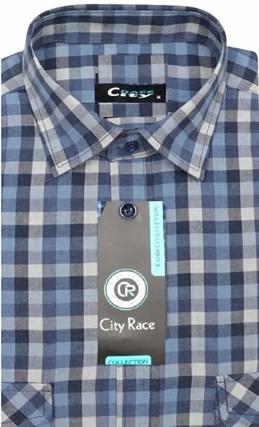 Фланелевая приталенная рубашка City Race KAC1705 - фото 12732