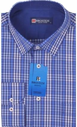 Мужская рубашка большого размера BROSTEM K6-261-G - фото 12746