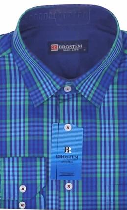 Мужская рубашка большого размера BROSTEM K6-272-G - фото 12753