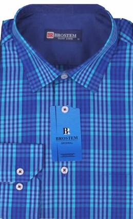 Мужская рубашка большого размера BROSTEM K6-273-G - фото 12754