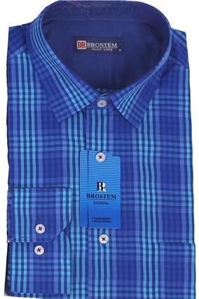 Мужская рубашка полуприталенная BROSTEM K6-263 - фото 13261