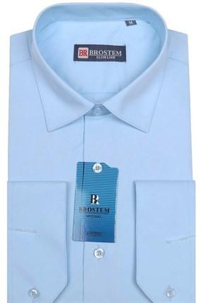 Рубашка с модалом полуприталенная BROSTEM 4706-10 - фото 13275