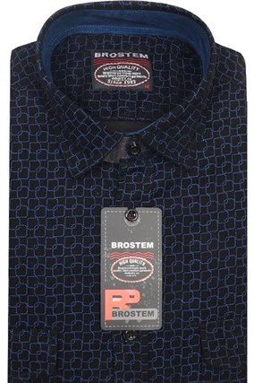 Вельветовая мужская рубашка хлопок полуприталенная Brostem  VT12 - фото 13305
